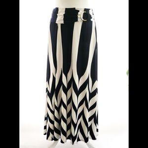 Robert Louis Navy Blue and Ivory Skirt